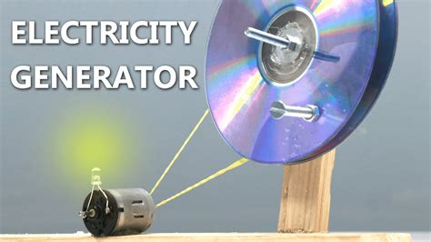 how to make a electric generator at home using cd