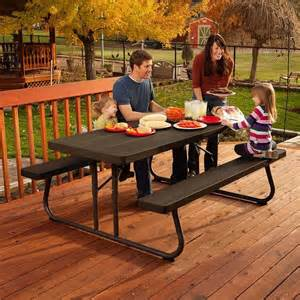 Lifetime Folding Picnic Table Lifetime 6 Folding Outdoor Picnic Table Rural King