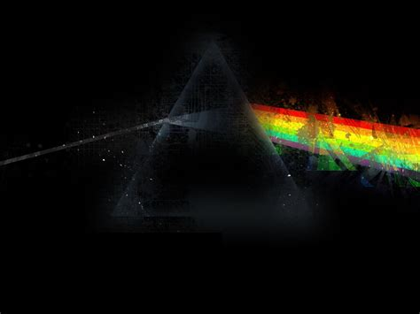wallpaper pink floyd triangle rainbow graphics
