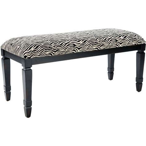 animal print upholstered bench safavieh mona zebra print upholstered bench