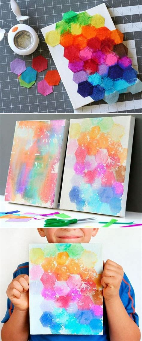 Easy Tissue Paper Crafts - create these easy tissue paper crafts and with