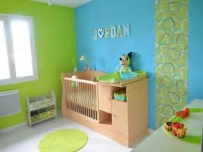 d 233 co chambre bebe garcon bleu et vert