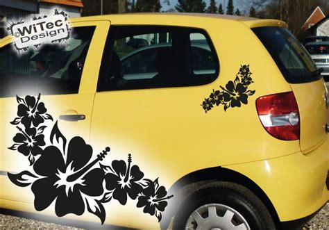 Blumen Aufkleber F Rs Auto by Autoaufkleber 2x Hibiskus Blumen Aufkleber Auto Sticker