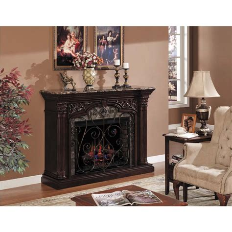 Marble Top Electric Fireplace by Classic Astoria Wall Mantel Electric Fireplace With