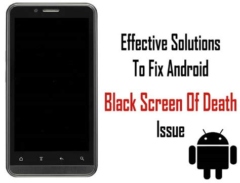 android screen repair fixed quot android black screen of quot issue