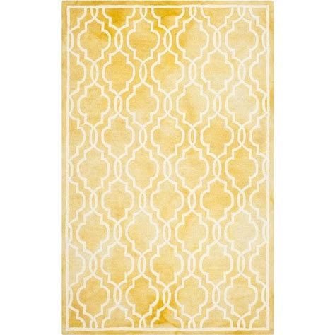 gold rugs contemporary safavieh dip dyed gold contemporary rug runner 2 6 quot x 4 ddy539h 24