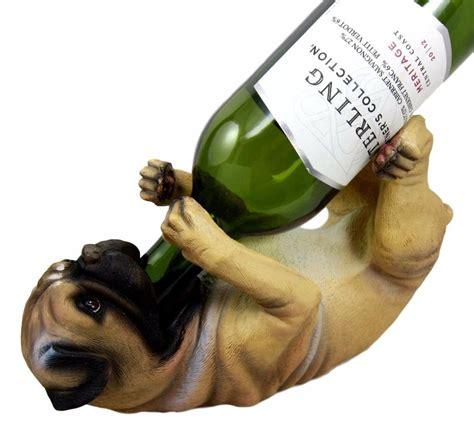 pug wine bottle holder canine pedigree adorable pug wine bottle holder figurine kitchen ebay