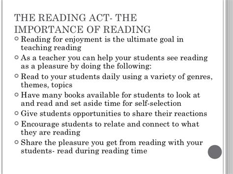 Importance Of Reading Essay by Chapter 1 Teaching Reading In Today S Elementary Schools Roe Smith