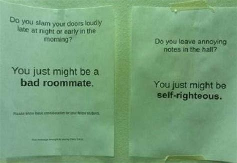 just wingin it one â s comical collection roommate note collection joke pictures