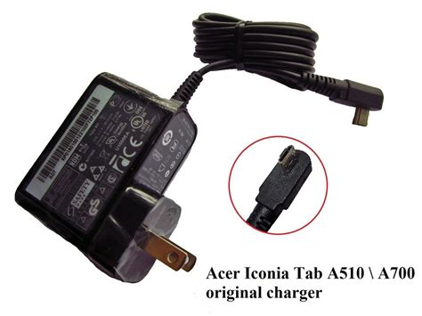 Adaptor Acer Iconia 12v 15a Original 1 genuine acer iconia tab a510 a700 ac adapter charger adp 18tb a