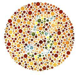 color blind dot test ishihara test for color blindness