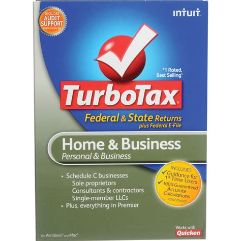 intuit turbotax home business software 414641 b h photo