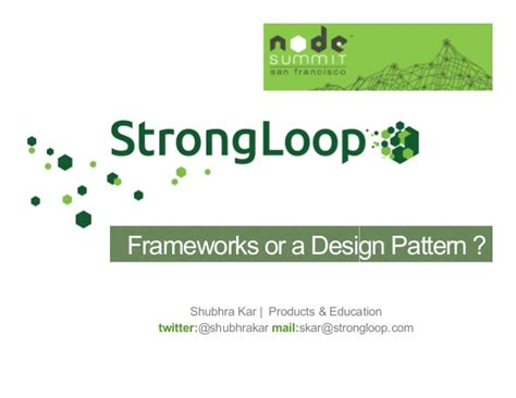 design pattern node js design patterns talk node summit