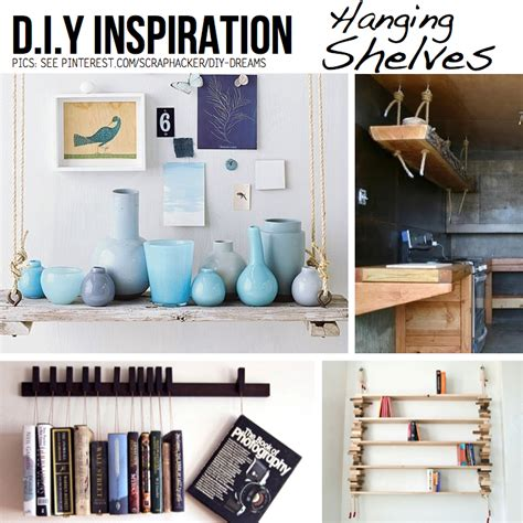 things to put on shelves put your stuff up in the air hanging diy ideas tutorials