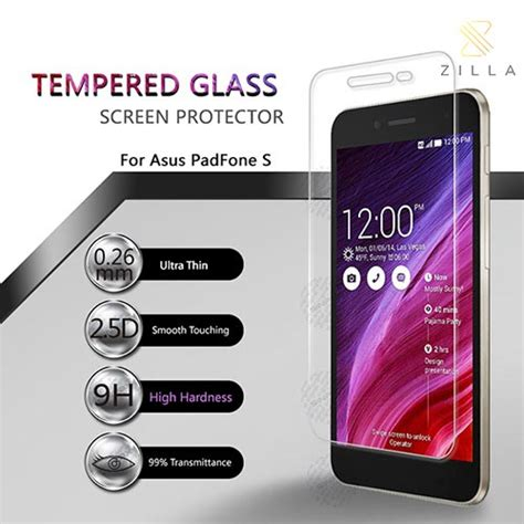 Tempered Glass Padfone S zilla tempered glass protection screen 0 26mm for asus padfone s pf500kl asahi japan