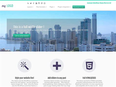 bootstrap themes official 35 free wordpress bootstrap themes 2018