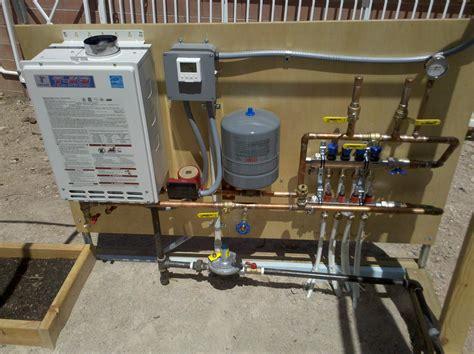 radiant heat water heater or boiler tankless water heater radiant floor heating carpet