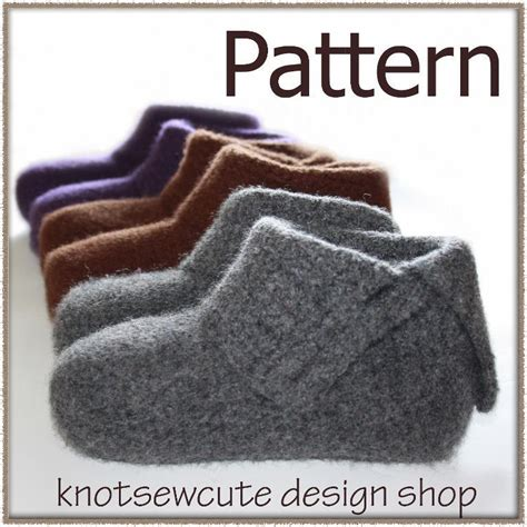 slipper pattern to sew crochet pattern simply felted slippers