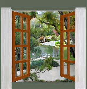Bathroom Curtains For Windows Ideas window view glimpse of tranquility japanese garden
