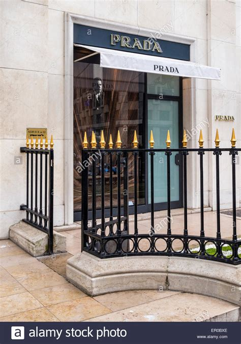 sophisticated luxury displayed by avenue montaigne prada display window avenue montaigne of