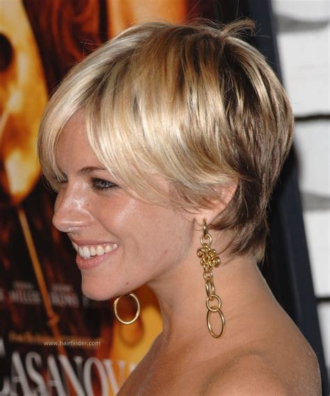 sienna miller shaggy pixie hairstyle razor cut and with