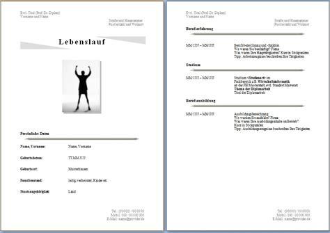 Word Vorlage Lebenslauf Mit Bild Kostenlose Lebenslaufvorlagen Zum Herunterladen Office Lernen