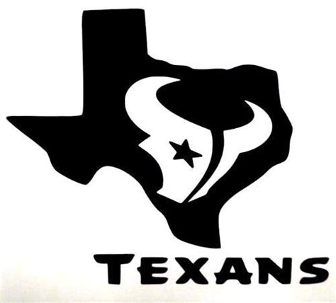 houston texans logo template details about houston texans bull logo football car