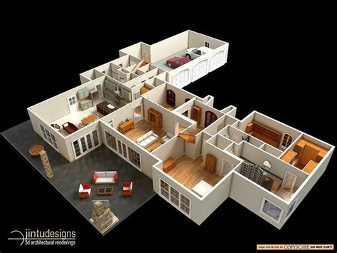 Apartment Above Garage by 3d Floor Plan Quality 3d Floor Plan Renderings