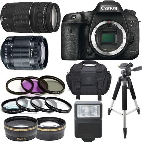 Canon Eos 7d 3 canon eos 7d ii w 18 55mm is stm 75 300mm iii 64gb kit