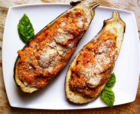 stuffed eggplant ginger rose quinoa stuffed eggplant