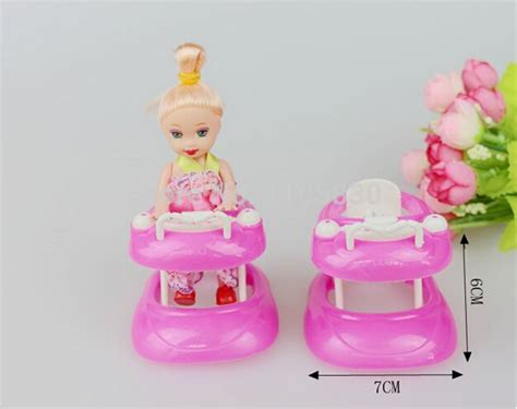New Pink Plastic Walker 1 6 For Doll S House Dollhouse Miniatur pink plastic walker 1 6 miniature accessories for doll house dollhouse furniture include