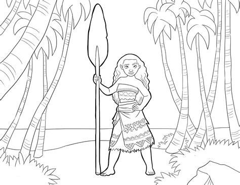 imagenes para colorear moana moana princesa de disney dibujos colorear dibujalandia