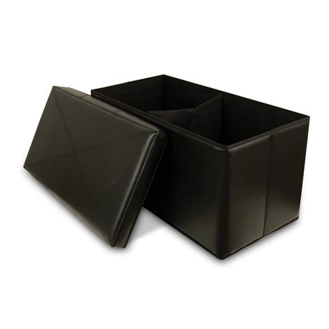 Black Leather Storage Ottoman 5 Best Black Leather Ottoman Enough To Make Your Room Attractive Tool Box