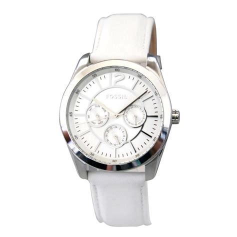Fossil Chronograph White fossil chronograph white leather