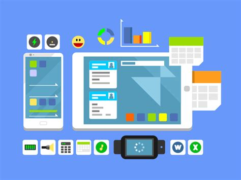 app layout illustrator developing a mobile app and layout flat illustration