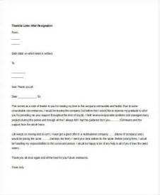 Resignation Letter Sle Thankful 30 Simple Resignation Letters Free Premium Templates