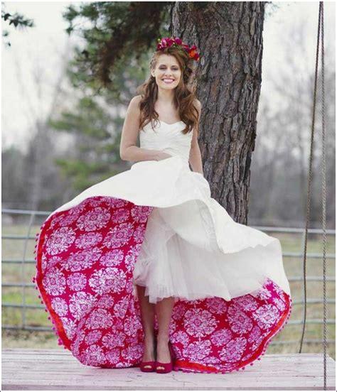 Ausgefallene Brautkleider by Ausgefallene Brautkleider Originelles Design Wei 223 Rot