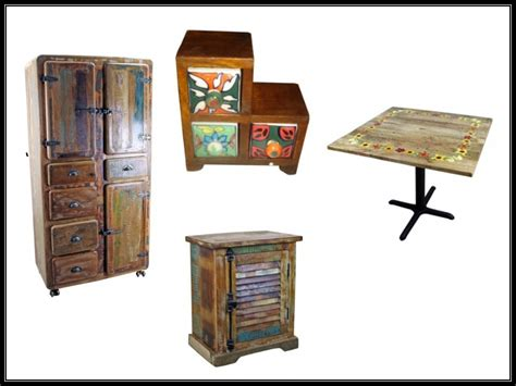 Painted Mexican Furniture by Rustic Mexican Furniture Talavera Mexican Furniture