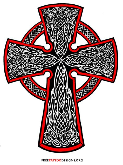 black and red christian cross 46 celtic cross tattoos designs