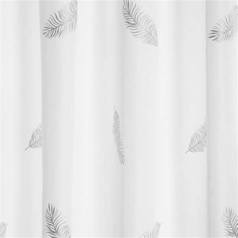 feather shower curtain croydex silver feather textile shower curtain 1800 x