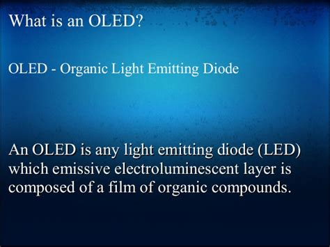 what is an organic light emitting diode oled organic light emitting diode
