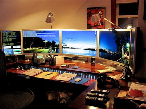 home office monitor meticulously modern and minimal desktops apartment therapy