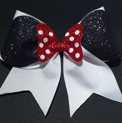 cheer bows uk 3in minnie mouse cheer bow