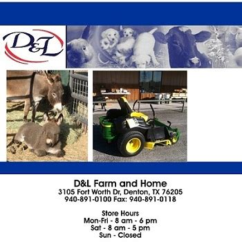 d l farm and home carries dependable farm supplies in