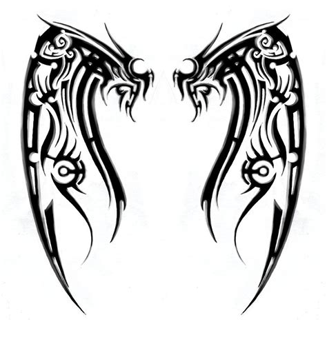 tribal wings tattoo meaning cross with wings tribal meanings and symbols for