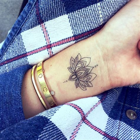 lotus flower tattoo wrist designs ideas and meaning
