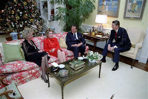 Home Decorations For Christmas file ronald reagan with billy graham and wife c11966 7 jpg