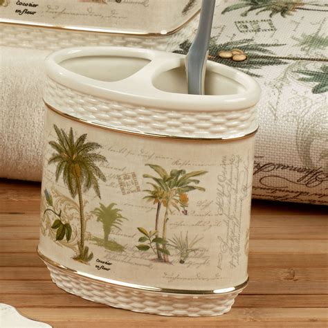 palm tree bathroom accessories colony palm tree tropical bath accessories
