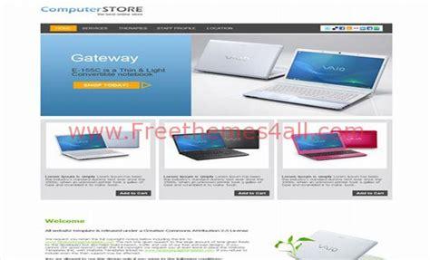 Laptops Computers Shop Website Template Laptop Website Templates Free