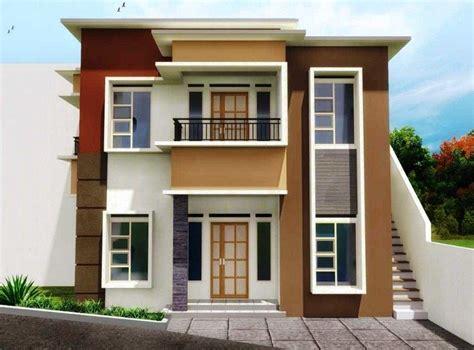 desain depan rumah 2 lantai gambar rumah dari depan gallery taman minimalis contoh